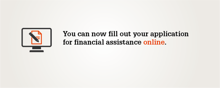 Application for financial assistance online